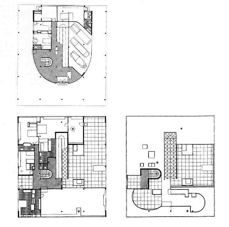 Plans des diff  233 rents niveauxVilla Savoye 2nd Floor Plan